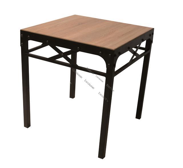 Luxiame mobilier en acier tunisie mobilier acier bois for Table 70x70 design